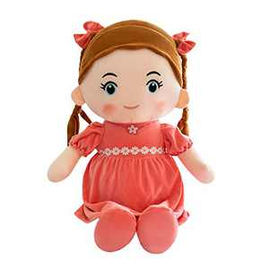 Handmade Rag Dolls for Home Decoration and Interior Design 14 Inch Gift Toy, First Baby Doll Cute Nursery Room Decor (Red, 14 inches)