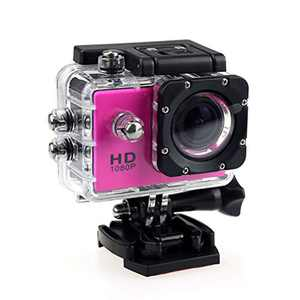 4K Action Camera 1080P Underwater Waterproof Camera with EIS, External Microphone, Touch Screen, Slow Motion, 120° Wide Angle Sports Cam w/Gopro Compatible Accessories (Red)