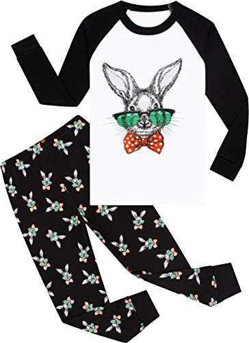 Pajamas Boys Easter Pjs Toddler Kids Rabbit Sleepwear Girls Cotton Pants Set Size 8