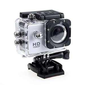 4K Action Camera 1080P Underwater Waterproof Camera with EIS, External Microphone, Touch Screen, Slow Motion, 120° Wide Angle Sports Cam w/Gopro Compatible Accessories (Gray)