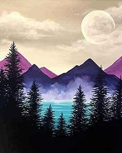 """Buigery Diamond Painting Kits for Adults Full Drill Diamond Art, Crystal Art Kit 5D Paint with Diamond DIY Painting Kit Mountain Diamond Painting for Beginner Kid Perfect for Home Wall Decor 12"""" x 16"""""""