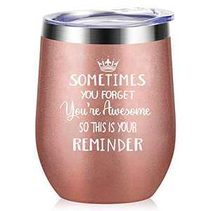 Tom Boy Thank You Gifts for Coworker, Inspirational Gifts Wine Tumbler for Women, Sister, Boss - Friend Gifts for Christmas, Birthday - Insulated Wine Tumbler With Straw 12oz