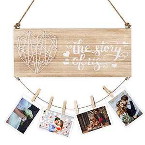 liangren Couples Gifts Photo Holder Wedding Gifts, Bride Groom Gifts for Wedding, Engagement Gifts for Engaged Couples - The Story of Us - Wall Photo Frame for Girlfriend Boyfriend Wife Husband
