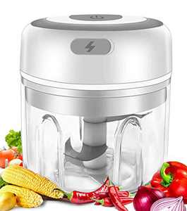 Electric Mini Garlic Chopper Mincer ,Portable Cordless Vegetable Food Processor with USB Charging, Rechargeable Powerful Blender for Onion, Grinder, Meat and Salad