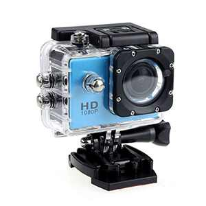 4K Action Camera 1080P Underwater Waterproof Camera with EIS, External Microphone, Touch Screen, Slow Motion, 120° Wide Angle Sports Cam w/Gopro Compatible Accessories (Blue)