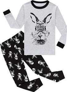 Boys Easter Pajamas Toddler Girls Rabbit Pjs Long Sleeve Children Cotton Pants Set Size 3
