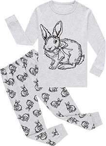 Girls Easter Rabbit Pajamas Toddler Kids Cotton Pjs Children Sleepwear Pants Set Size 4
