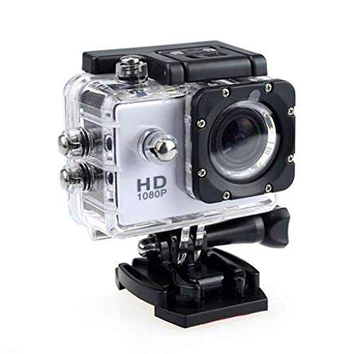 4K Action Camera 1080P Underwater Waterproof Camera with EIS, External Microphone, Touch Screen, Slow Motion, 120° Wide Angle Sports Cam w/Gopro Compatible Accessories (White)