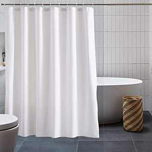 """Fabric Waffle Shower Curtain,YSOHQ Fashion Simple Atmosphere, Breathable Microfiber Fabric Machine Washable Shower Curtain for Spa and Hotel Luxury Bathroom Showers and Bathtubs,72"""" W x 72"""" H , White"""