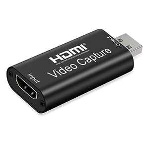 Audio Video Capture Card, FHD 1080P HDMI to USB 2.0 - Record via DSLR Camcorder Action Cam, Computer, Phone for Video Gaming, Streaming, Teaching, Conferencing, Live Broadcasting,and Facebook