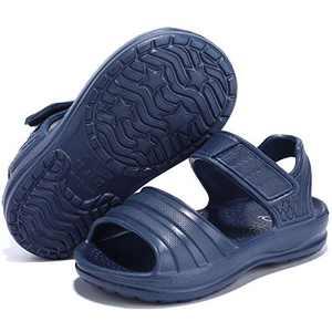 STQ Toddler Boys Sandals Open Toe Kids Water Shoes for Beach Swim Pool Outdoor, NAVY, 11 M US Little Kids