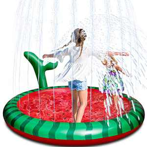 "Vimite Water Sprinkler for Kids,68"" Splash Pad Sprinkler for Kids Outdoor Play,Inflatable Splash Play Mat for Boys Girls Summer Outdoor Game Water Toys for Toddlers Children Kiddie Outside"