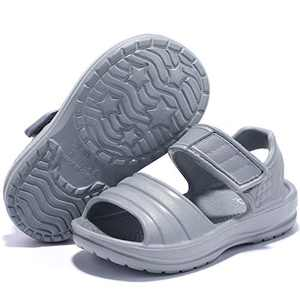 STQ Toddler Sandals Boys Non-Slip Water Shoes for Outdoor Beach Athletic Sports, DARK GREY, 6 M US Toddler