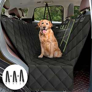 AURELIO TECH Dog Seat Covers for Back Seat, Convertible Dog Hammock with Visual Mesh Window and Seat Belt, Waterproof Scratchproof and Anti-Slip Pets Seat Protectors for Cars/SUV/Trucks - XLarge Size