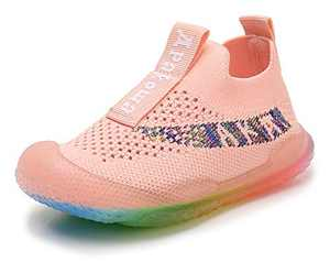 Apakowa Toddler Kid's Lightweight Sneakers Boys Girls Soft Sole Casual Running Shoes