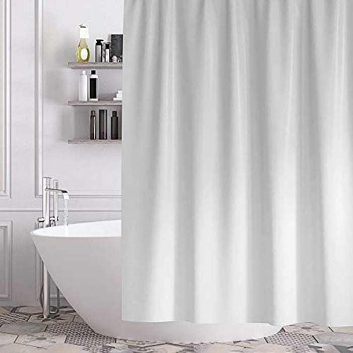 Gricol Shower Curtain Waterproof Mould Mildew Resistant Bathroom Curtain Thick Duty Fabric Washable Stylish and Water Repellent Shower Liner for Bathroom Curtains