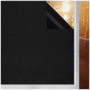 "Coavas Blackout Window Film Static Cling 100% Light Blocking Window Tint for Home Room Darkening/Day Sleep/Nursery 17.5"" x 78"""
