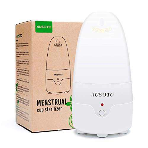 Menstrual Cup Sterilizer Steamer, Suitable for Any Style of Menstrual Cup, High Temperature Steaming, One Button Start, Safe and Reliable(No freebies)