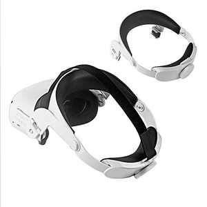 HIJIAO Adjustable for Oculus Quest 2 Head Strap VR Elite Strap with Head Cushion