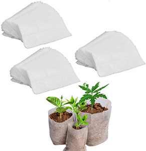 Jinhot 300PCS Degradable Non-Woven Plant Nursery Bags Plant Seeding Bags - 6.3X 7.1 Inch/16x18cm. (6.3X 7.1 Inch/16x18cm)