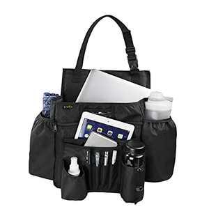 ECWKVN Car Front Seat Organizer, Heavy Duty Passenger Seat Organizer - Vehicle Storage Organizers with Delicated Tablet Holder Cup Holder, Car Backseat Organizer Law Enforcement, Black