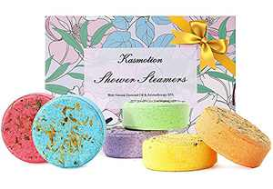 Shower Steamers, 6 Pcs Shower Bombs Gift Set, Bath Bomb Aromatherapy with Essential Oils for Relaxation & Home Spa, Great Spa Gift for Mother's Day, Birthday, Shower Tablets for Women, Mom, Girlfriend