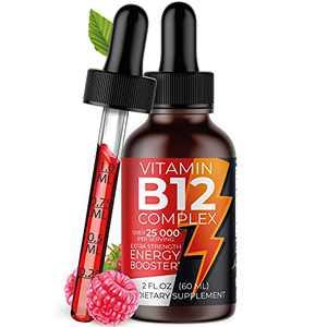 Vitamin B Complex Liquid Supplement - Premium Drops for Stronger Hair, Skin & Nails Sublingual Vitamin b12 b6 b5 b3 & b2 - Fast Absorption Natural Energy Boost, Immune System & Mental Focus Support