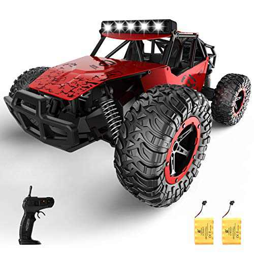 SZJJX Remote Control Car for Boys Girls, 20+ Km/h High Speed RC Trucks Car, 1:14 Scale Fast All Terrains Off Road Monster Crawler Vehicle Toy with Headlights 2 Batteries for Adults Kids 40 Min Play