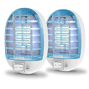 GLOUE Indoor Bug Zapper, Mosquito Killer Electronic Insect Killer Fly Trap, Mosquito Zapper with Blue Lights for Home, Kitchen, Bedroom, Baby Room, Office (2 Packs)