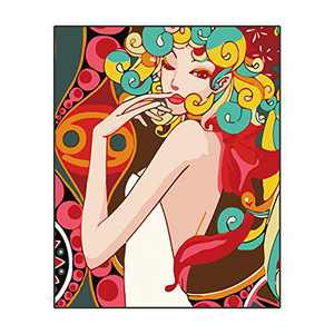 """Supzone Paint by Numbers for Adults DIY Canvas Oil Painting Kits for Kids Students Beginner with Brushes and Acrylic Pigment Colorful Teenage Girl Oil Painting for Home Wall Decor 15.8"""" x 19.7"""""""