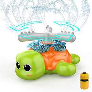 FOSUBOO Outdoor Sprinkler Toys for Kids, Water Sprinkler for Toddler, Water Toy Spinning Sprinkler for Garden Yard Law, Water Spray, Summer Toys for 3 4 5 6 7 Year Old Kids