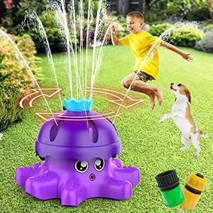 FOSUBOO Sprinkler for Kids - Outdoor Water Toy for Toddlers, Backyard Sprinklers Water Toy for Age 3 4 5 6 Boys and Girls, Water Lawn Sprinkler Fun Toy for Summer