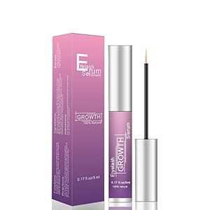 Eyelash Growth Serum Eyelash Serum - Grande Lash Growth Serum, Rapid Lash Eyelash Growth Serum, Non Irritating, Natural Vegan, Organic for Longer Thicker Lash Boost