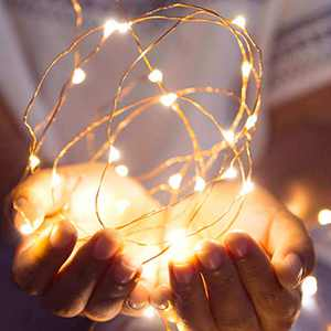 COMIVSIR Twinkle Copper Wire Led String Lights Decoration Operated - for Fairy Wedding Birthday Christmas Halloween Party Indoor Patio Home Decor Powered with USB Cable Without Battery