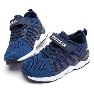 WOUEOI Kid Boys Girls Shoes Running Lightweight Breathable Sneakers(H-Blue,10.5 Little Kid)