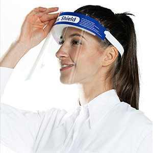 8PCS-Transparent Face-Shield Mask Reusable Anti-Fog - Protection Visor Installation Comfortable YIDERBO