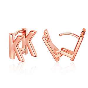 Initial Stud Earrings for Women Rose Gold Plated Letter K Earrings Jewelry Gifts for Her