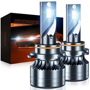 MIROZO 9005/HB3 LED Headlights Bulbs Mini Size 6500K Cold Light Waterproof Conversion Kit High Beam/Fog Light