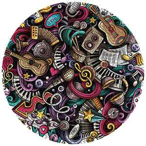 Jigsaw Puzzles 1000 Pieces Round for Adult Graffiti Music