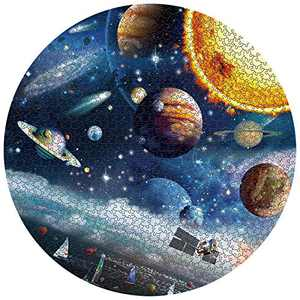 Jigsaw Puzzles 1000 Pieces Round for Adult Planet in Space