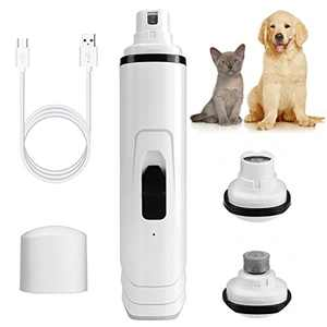 Yoobure Dog Nail Grinder Rechargeable Electric Pet Nail Trimmer with USB Charging Quite & Powerful 2-Speed Nail Clippers Trimming Painless Paws Grooming & Smoothing for Small Medium Large Pets