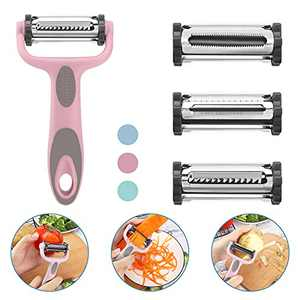 3-in-1multifunctional kitchen peeler and potato peeler, Slice Peeler and Julienne Peeler stainless steel peelers for vegetables, carrots, and fruits, with sharp blades, multi-functional kitchen tools