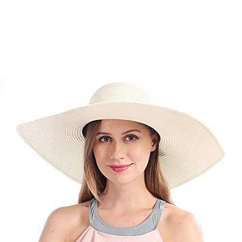 Straw Hat for Women, Summer Sun Hat for Beach, Gardening, Hiking, Packable Sun Hat Women Offers Sun Protection Hat for Summer, UV Hat