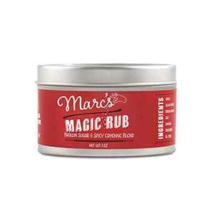 Marc's Magic Rub, Sweet & Spicy Dry Rub Perfect for BBQ, Chicken, Shrimp, Salmon, Vegetables. Gluten Free, No MSG, No Preservatives. 3 oz tin