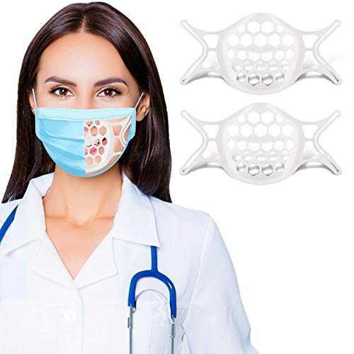 3D Mask Insert for Easier Breathing Room Silicone Mask Bracket, labato Plastic Mask Inserts Turtle Mask Spacer Face Mask Shield, Breathable Mask Guard Frame Cool Mask Brace Breathe Cup Mask Cage, 2PCS