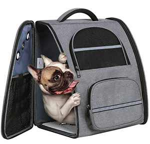 ENNEFU Pet Carrier Backpack for Large/Small Cats and Dogs Puppy Pet Front Pack with Breathable Head Out Design and Padded Shoulder for Hiking Outdoor Travel