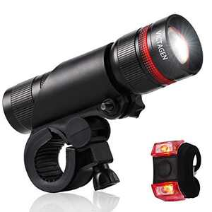 Victagen Bicycle Light Easy Installs in Seconds Without Tools, Universal Portable&Adjutable&Doubles as Flashlight, Powerful Headlight Compatible with: Mountain, Kids, Street, Front & Back Illumination