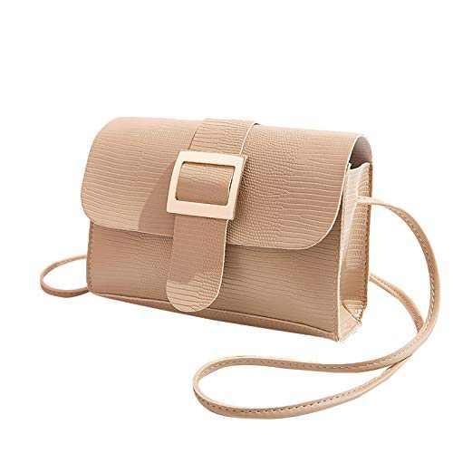 """Ladies Fashion Shoulder Bag Handbag All-match Messenger Bag for Work Business Travel (Beige, 7.48(L) x1.57(W) x5.51cm(H)"""")"""