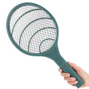 pzqzmar Electric Fly Swatter 3000 Volt Mosquito Killer Bee Bug Zapper Racket Pests Insects Control Fly Killer for Indoor Outdoor (Green)