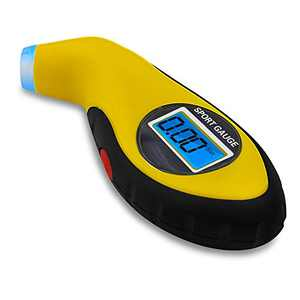 Digital Tire Pressure Gauge Car Accessories for Women & Men Pressure Check Tool for Car Truck Motocycle Bicycle Jeep TPG973 - Yellow
